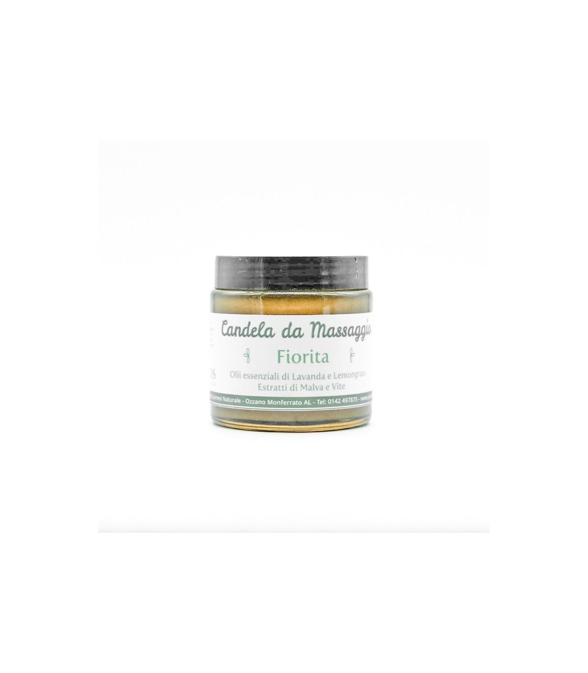 Burro corpo - candela da massaggio fiorita lavanda e lemongrass